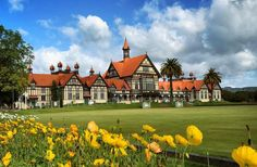 """@live_life_love_travel on Instagram: """"The beautiful Rotorua museum in the Government Gardens."""" Live Life Love, Us Travel, Adventure Travel, Gardens, Museum, Mansions, House Styles, Places, Beautiful"""