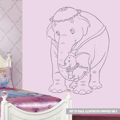 Dumbo Elephant Wall Decal Sticker by DesignerWallz on Etsy, £15.99 ...