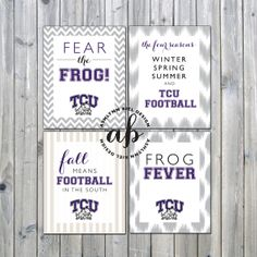 TCU Printable Football Signs (set of 4)