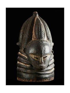 Bundu helmet mask, Sowei, Sande Society - Mende - Sierra Leone
