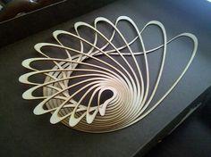 Mark Plaga lasercut wooden sculpture