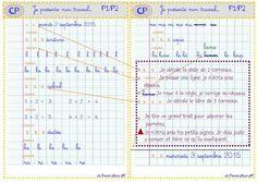 Organisation Écriture 2016 - La domrod classe CP Orientation, Notebook, Bullet Journal, Writing Notebook, Back To School, 1st Grades, Organisation, Graphic Design, The Notebook