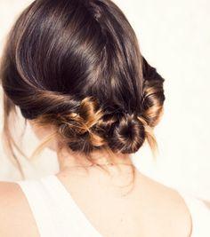 Cute and simple three twist bun hair tutorial Twist Braid Hairstyles, My Hairstyle, Pretty Hairstyles, Fall Hairstyles, Wedding Hairstyles, School Hairstyles, Stylish Hairstyles, Quick Hairstyles, Hair Updo