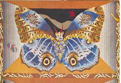 """Le papillon (détail de la tapisserie """"Ferme ton armoire"""", de Jean Lurçat (1892)"""