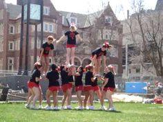 Cheerleading Flip Stunt to Hitches