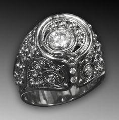 White Hot Diamonds in Artisan Handmade Jewelry. by Daniel Sommerfeld on Etsy