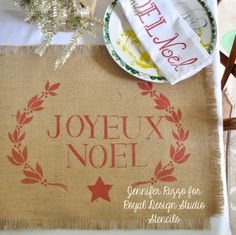 Garland Noel and Classic letter stencil for Royal Design Studio