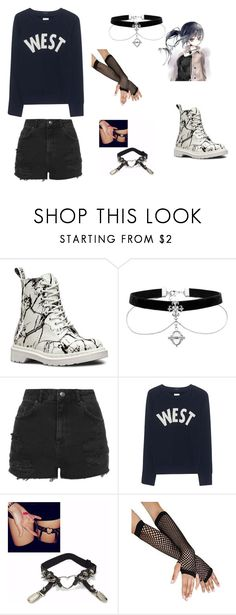 """""""Unmei Chieko Casual2.0"""" by min-biangka on Polyvore featuring moda, Dr. Martens, Topshop e Mother"""