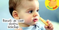 In jur de 7-8 luni, cand bebelusului este in plin proces de aparitie a dintilor ... incearca sa se calmeze rozand orice :) Iata cateva retete de biscuiti pentru bebelusi care merita incercate: Orice, Deserts, Baby, Postres, Baby Humor, Dessert, Infant, Babies, Babys