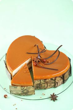 Verdade de sabor: Apple gâteau de caramel / Torta mousse de maçã e caramelo