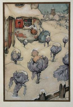 Anton Pieck Birth Announcement. My father was told he was found in a cabbage.
