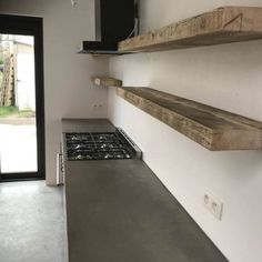 kitchen ideas – New Ideas Style At Home, Grey Kitchens, Home Kitchens, New Kitchen, Kitchen Decor, Wooden Spice Rack, Loft Style, Industrial House, Wooden Shelves