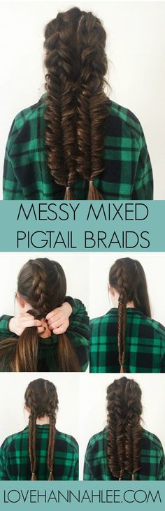 Mixed & Messy Pigtail Braid Tutorial | Love, Hannah Lee by Hannah Martin