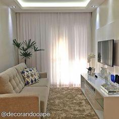 My house Sala pra ape Condo Living, Small Living Rooms, Home Living Room, Apartment Living, Living Room Decor, Room Interior, Interior Design Living Room, Living Room Designs, Condo Design