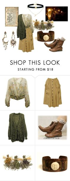 """the green witch"" by earthandbone ❤ liked on Polyvore featuring Diego Percossi Papi, Miss Selfridge and ASOS"