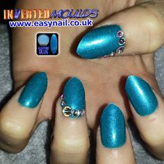 Ms by Cheryl using Electric Blue Acrylic from www.thenailartist.co.uk Instagram photo by invertednailsystems - http://instagram.com/p/1A9IEVhGEc/ #Invertedmoulds #Nails #Nailart #NOTD #IMs #Nailartideas #electricblue