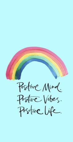 Cute Quotes, Happy Quotes, Words Quotes, Positive Mind, Positive Quotes, Wallpaper Quotes, Iphone Wallpaper, Rainbow Wallpaper, Good Morning Love You