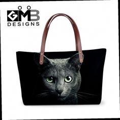 42.99$  Buy now - http://alih9u.worldwells.pw/go.php?t=32599174501 - Luxury Handbags For Women Animal Designer Cat Dog Printing Borsa Large Capacity Shoulder Bag Vintage Shopping Bag Bolsa Feminina