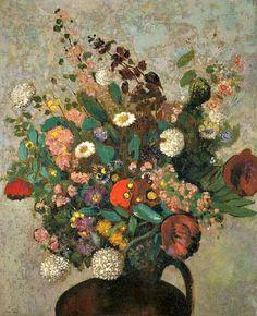 Odilon Redon  Bouquet of Flowers    1900-10