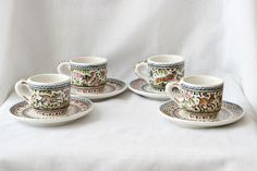 Demitasse Espresso Cups from Coimbra, Portugal | Hand-painted ceramic pottery | eBay