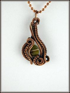 Fancy Jasper Pendant Wire Wrapped Stone Necklace Wire Woven