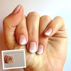 """""""California Wedding Day"""" magazine called this look """"The New French Manicure!"""" What do you think of this look? Would you wear this modern take on a classic on your wedding day?"""