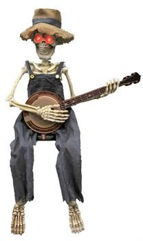Animated Skeleton Playing Banjo - CostumePub.com Funny Halloween Costumes, Scary Halloween, Halloween Items, Halloween 2019, Animated Unicorn, Dueling Banjos, Horror Party, Morris Costumes, Great Backgrounds