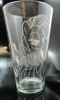 Rarity Etched Pint Glass by Toyponystudios on Etsy, $13.50