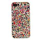Coque pour iPhone 4/4S, Motifs Géométriques Multicolores