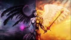 Video Game League Of Legends  Kayle Morgana Wallpaper