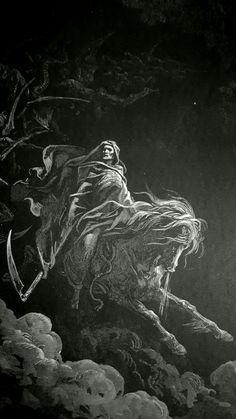 Phillip Medhurst presents detail 237/241 Gustave Doré Bible The Vision of Death Revelation 6:7-8