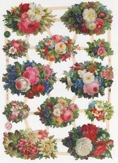 Original German Die Cut Scraps Little Children Flowers Butterflies Cats Roses | eBay