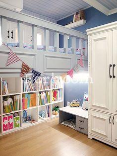 Apartment Home interior design, designed by Forroom. South Korea.  Kids Loft Room