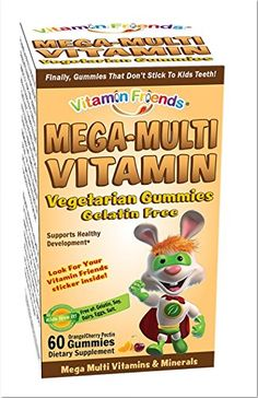 Vitamin Friends  Mega Multi Vitamin Diet Supplement Vegetarian Gummies That Dont Stick to Kids Teeth CherryOrange 60 Count -- Find out more about the great product at the image link. (This is an affiliate link and I receive a commission for the sales)