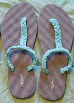 Ojotas recicladas. -  DIY Gladiator Sandals