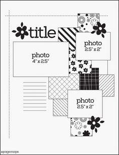 8 x 11 scrapbook sketch - Google Search