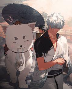 The odd jobs (Yorozuya) Manga Art, Manga Anime, Anime Art, Fanarts Anime, Anime Characters, Gintama Wallpaper, Inu Yasha, Comedy Anime, Gekkan Shoujo