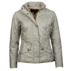 Flyweight Cavalry Quilted Jacket in Pale Sage by Barbour