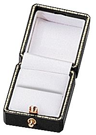 """Noble Gift Packaging's  """"Lausanne"""" collection brings you jewellery boxes with a refined, antique look. This Ring Box is finished with decorative gold clasps and gold tooling accents on the lid; inside, they have plush white velvet inserts and satin-lined lids. Choose from a selection of rich, classic colours."""