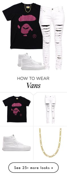 """Untitled #2079"" by dreakagotswagg on Polyvore featuring Boohoo, Vans and Fremada"