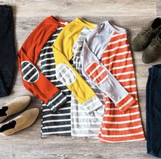 Stripe Tops | Elbow Patches | LucyAve.com
