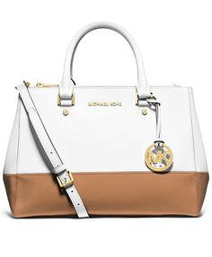 Love It also in pink and tan!! MICHAEL Michael Kors Sutton Medium Colorblock Satchel
