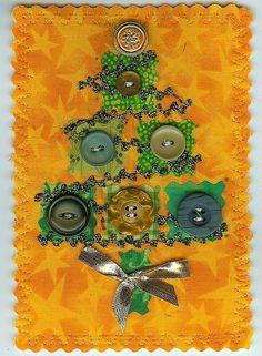 CHRISTMAS TREE FABRIC POSTCARD | shereesews