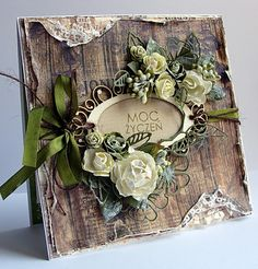 Riddersholm Design---layers of pretty flowers, distressing, tearing... love everything about it!