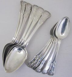 A set of six early Victorian tablespoons and six dessert spoons Edinburgh 1839  (12)