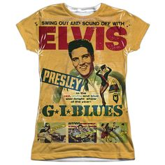 Elvis Presley: Gi Blues Sublimated Junior T-Shirt
