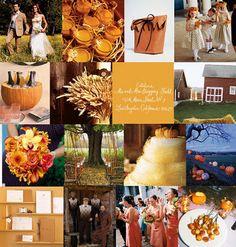fall wedding Pumpkin as an ice bucket