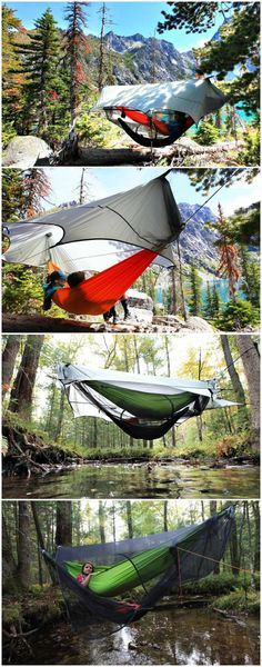 The Nubé Stratos allows you the freedom to camp over any terrain; placing your camping hammock in a cloud of protection with wide unobstructed views.