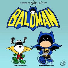 65 years ago today, the 1st #Peanuts comic strip was published. by Fabio Valle #Batman #Snoopy @Snoopy #mashup