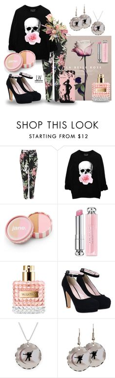 """""""Lovely Rose"""" by kashmier ❤ liked on Polyvore featuring Wallis, jane, Christian Dior, Valentino, women's clothing, women, female, woman, misses and juniors"""